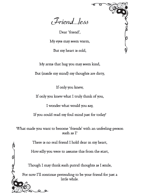 Poem, Friendless