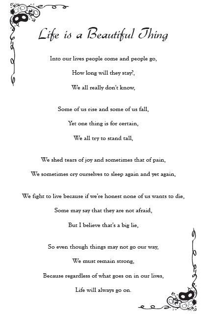 Life is a beautiful thing poem