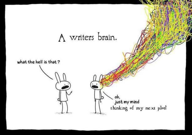 A writer's brain